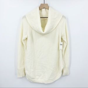 NWT Moth Ivory Cowl Neck Soft Sweater S
